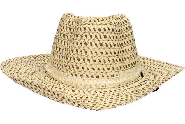 Foto 2 - Slaměný kovbojský klobouk béžový s pleteným páskem