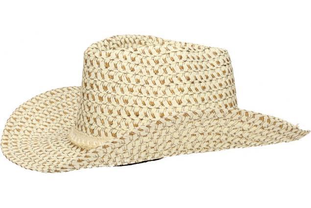 Foto 6 - Slaměný kovbojský klobouk béžový s pleteným páskem