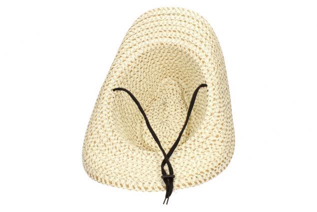 Foto 7 - Slaměný kovbojský klobouk béžový s pleteným páskem