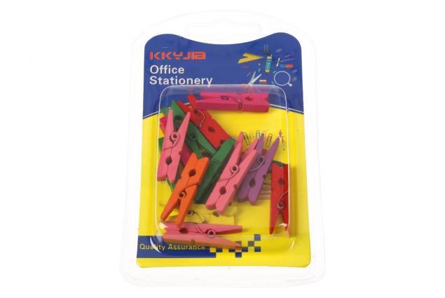 Foto 3 - Dřevěné barevné mini kolíčky sada 15 kusů