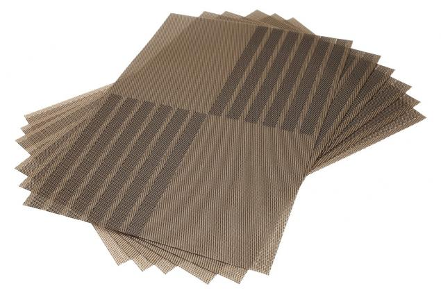 Foto 2 - Prostírání na stůl hranaté 30x45 cm hnědé 6ks