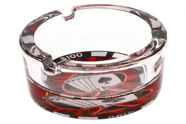 Foto 3 - Skleněný kulatý popelník Poker