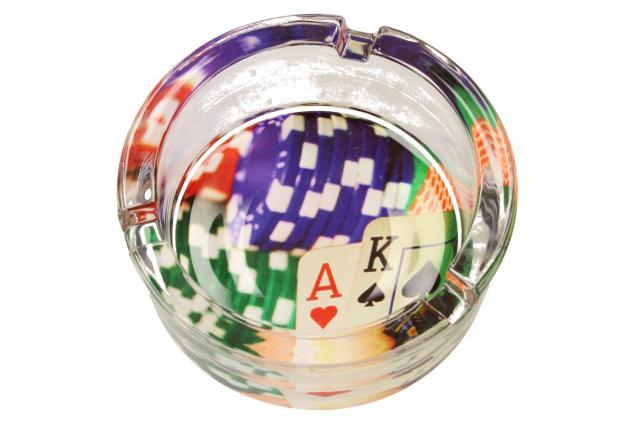 Foto 6 - Skleněný kulatý popelník Poker
