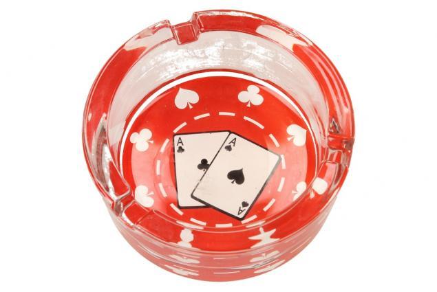 Foto 7 - Skleněný kulatý popelník Poker