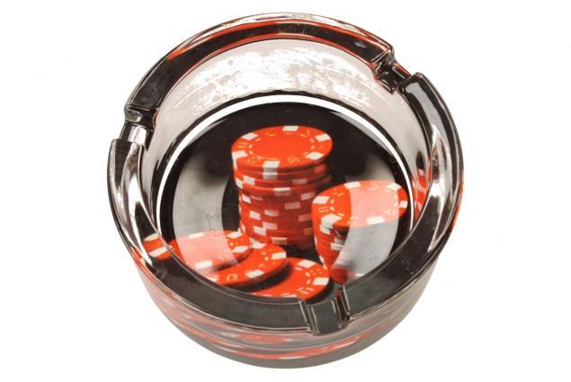 Foto 8 - Skleněný kulatý popelník Poker