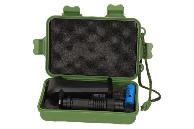 Foto 10 - UV Led baterka 1 x nabíjecí AA v pouzdře a nabíječkou