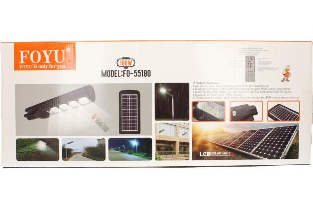 Foto 7 - LED solární venkovní světlo 180W na dálkové ovládání