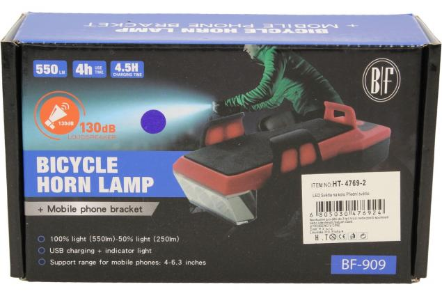Foto 11 - Multifunkční světlo na kolo s klaksonem BF-909