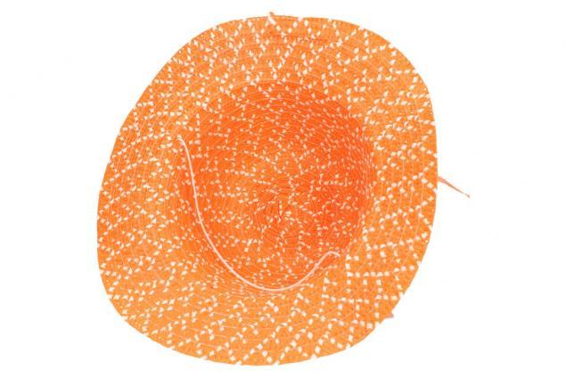 Foto 4 - Dětský klobouk s kytičkou oranžový