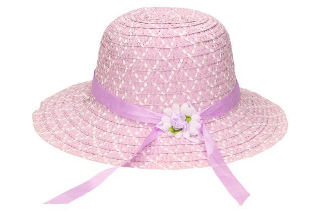 Foto 2 - Dětský klobouk s kytičkou fialový