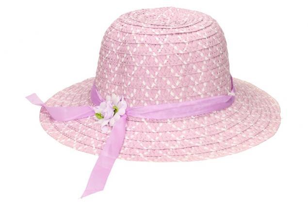Foto 3 - Dětský klobouk s kytičkou fialový