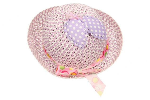Foto 2 - Dětský klobouk s mašličkou fialový