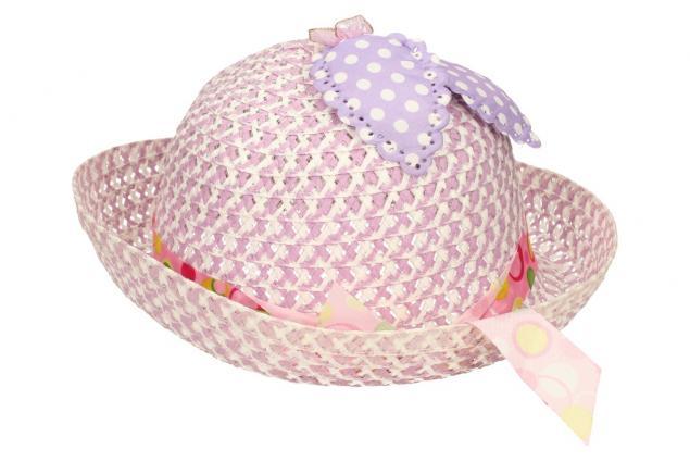 Foto 3 - Dětský klobouk s mašličkou fialový