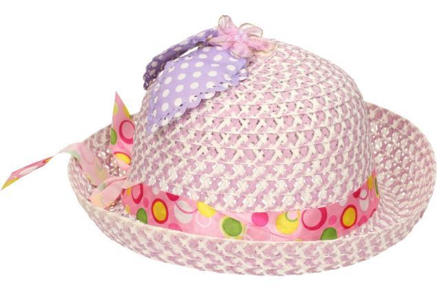 Foto 4 - Dětský klobouk s mašličkou fialový