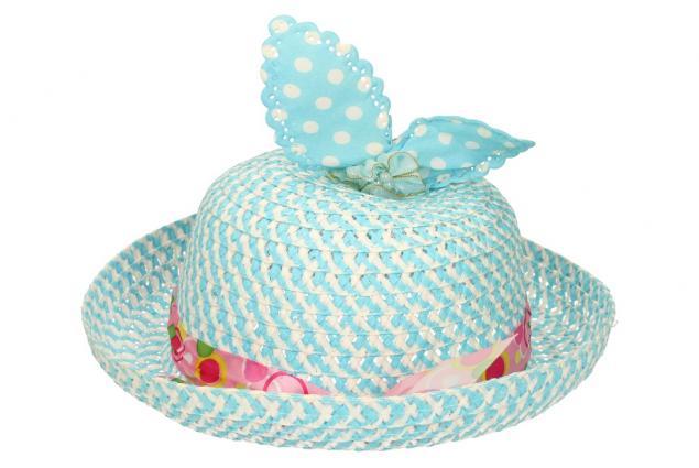 Foto 3 - Dětský klobouk s mašličkou modrý