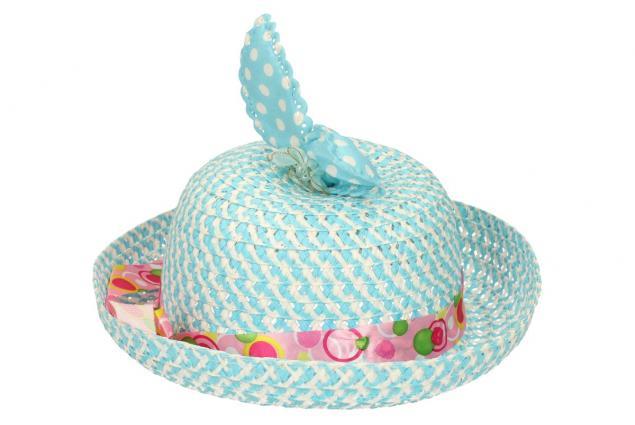 Foto 4 - Dětský klobouk s mašličkou modrý