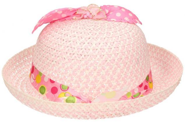 Foto 3 - Dětský klobouk s mašličkou světle růžový