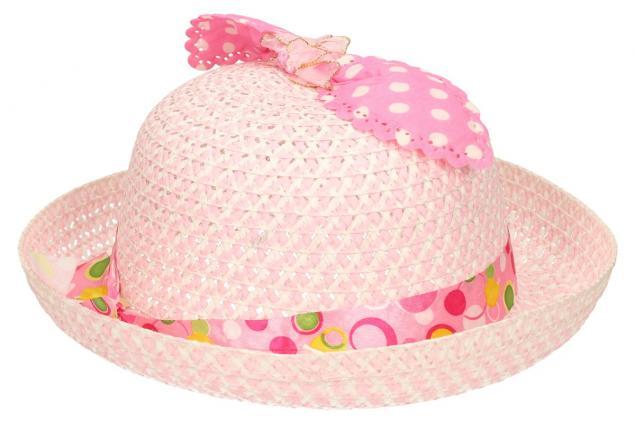 Foto 4 - Dětský klobouk s mašličkou světle růžový