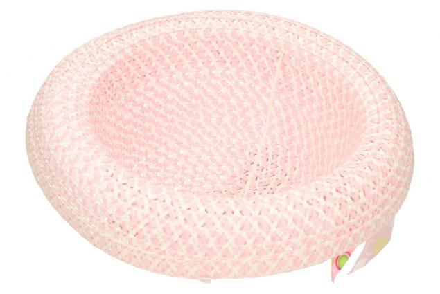 Foto 5 - Dětský klobouk s mašličkou světle růžový