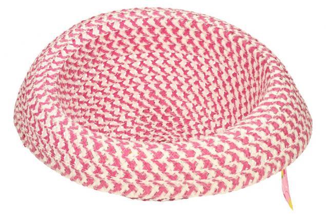Foto 5 - Dětský klobouk s mašličkou tmavě růžový