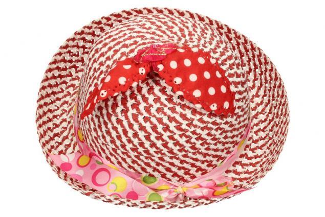 Foto 2 - Dětský klobouk s mašličkou červený