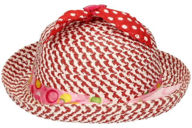 Foto 3 - Dětský klobouk s mašličkou červený
