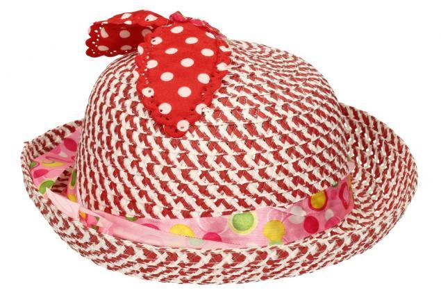 Foto 4 - Dětský klobouk s mašličkou červený