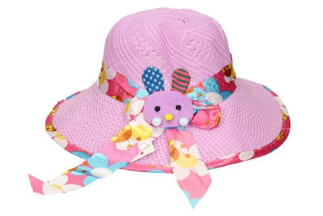 Foto 2 - Dětský klobouk s králíkem fialový