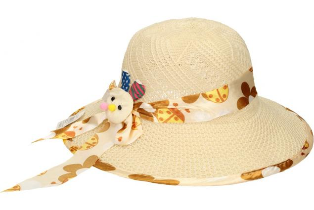 Foto 3 - Dětský klobouk s králíkem béžový