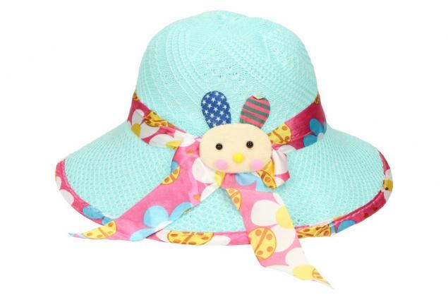 Foto 2 - Dětský klobouk s králíkem modrý
