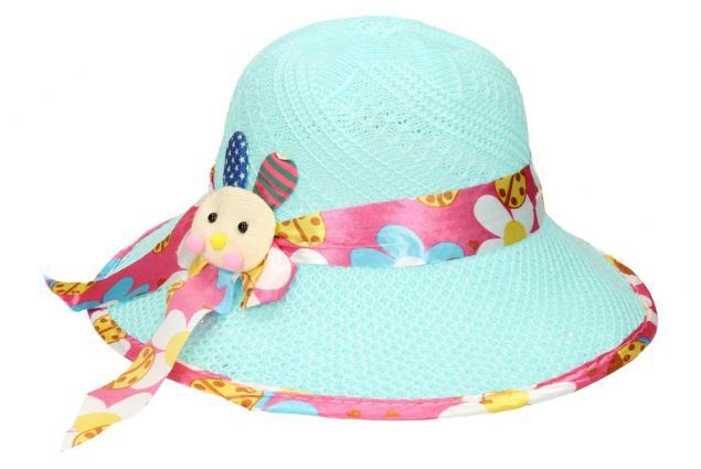 Foto 3 - Dětský klobouk s králíkem modrý