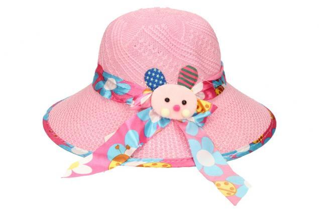 Foto 2 - Dětský klobouk s králíkem světle růžový