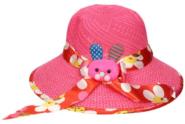 Foto 2 - Dětský klobouk s králíkem tmavě růžový