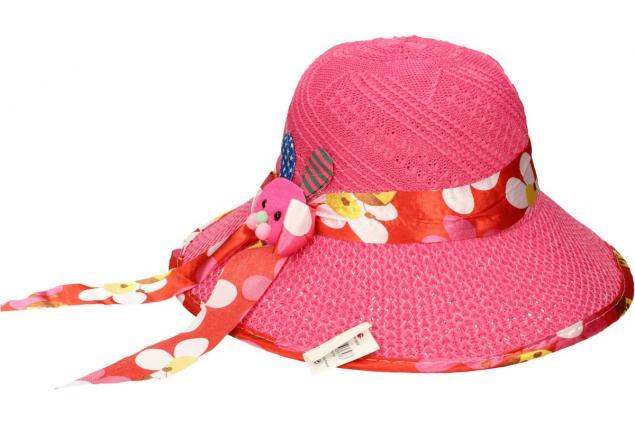 Foto 3 - Dětský klobouk s králíkem tmavě růžový