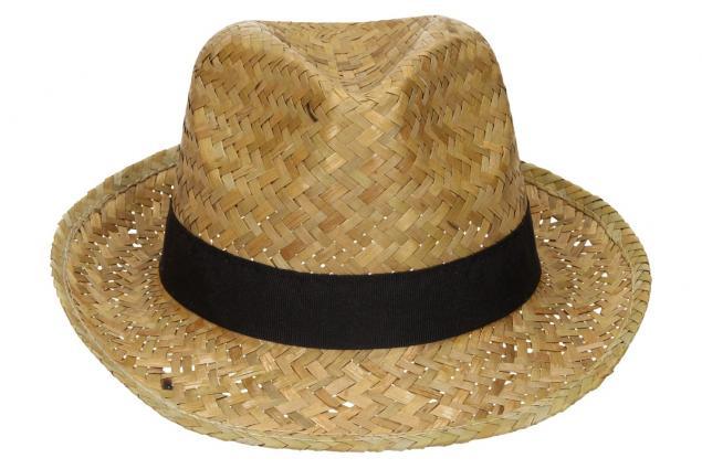 Foto 2 - Slaměný kovbojský klobouk s černým páskem nejmenší