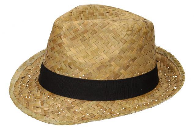 Foto 3 - Slaměný kovbojský klobouk s černým páskem nejmenší