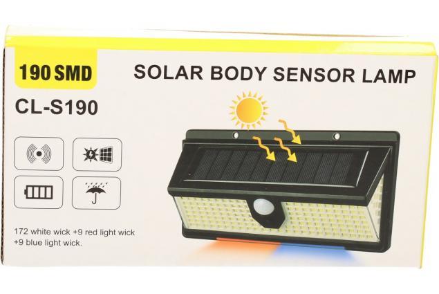 Foto 7 - LED solární světlo s pohybovým čidlem CL-S190