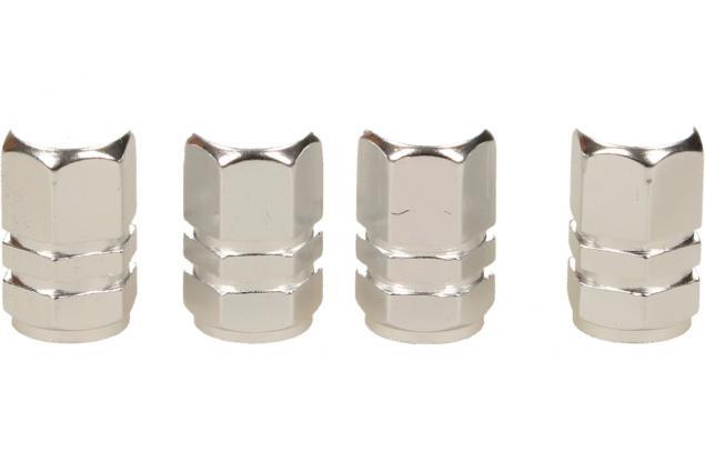 Foto 3 - Ozdobné čepičky na ventilky sada 4 ks stříbrné