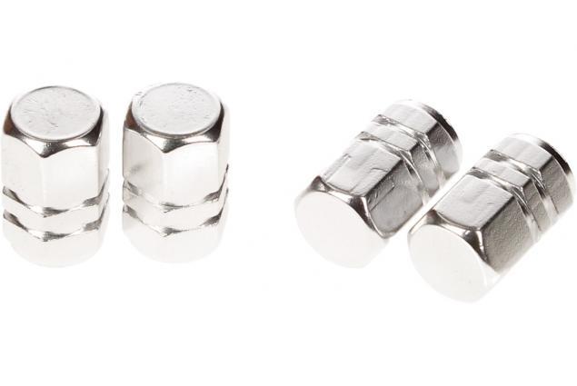 Foto 4 - Ozdobné čepičky na ventilky sada 4 ks stříbrné