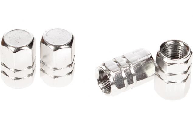 Foto 5 - Ozdobné čepičky na ventilky sada 4 ks stříbrné