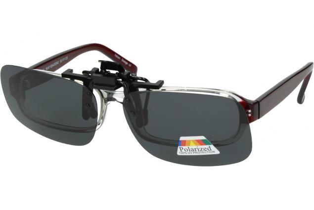 Foto 4 - Polarizační sluneční Klip na brýle šedý