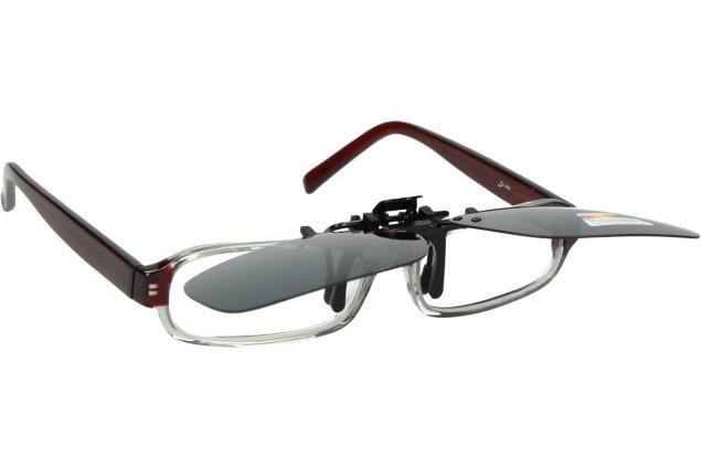 Foto 5 - Polarizační sluneční Klip na brýle šedý