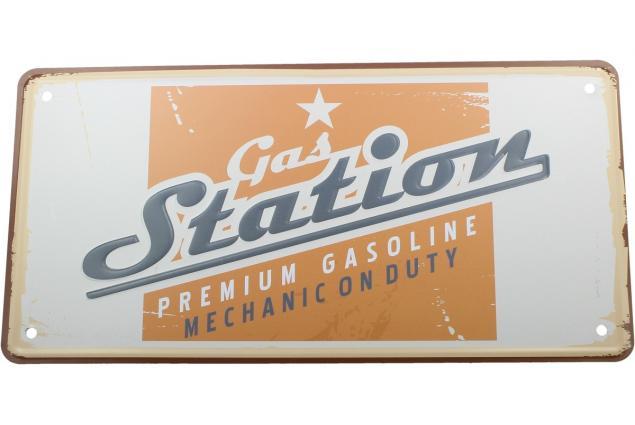 Foto 2 - Cedule značka USA 30x15,5 cm GAS STATION