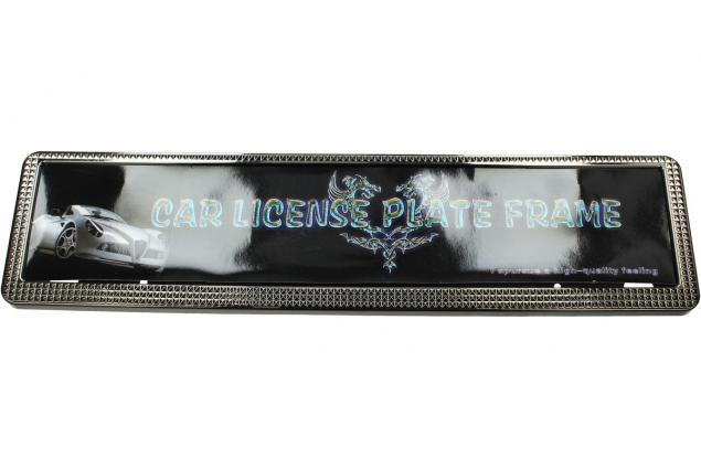 Foto 3 - Tabulka pod SPZ rám ozdobný stříbrný