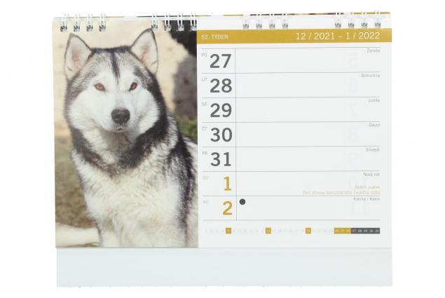 Foto 3 - Kalendář 2022 Psi a štěňata 22 x 18 cm