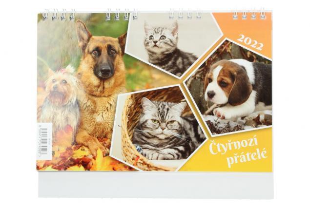 Foto 2 - Kalendář 2022 Čtyřnozí přátelé 22 x 18 cm