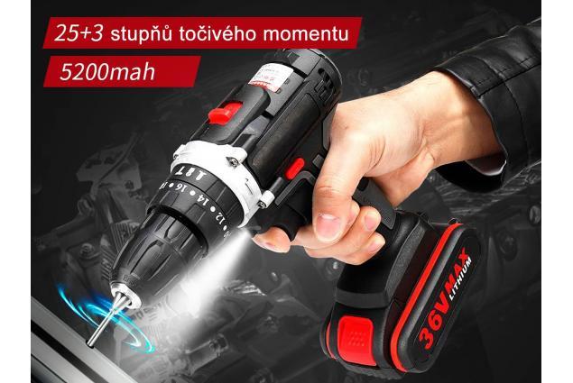 Foto 16 - Aku vrtačka Drillpro 21V s příklepem včetně 2 kusů 36Vf baterií