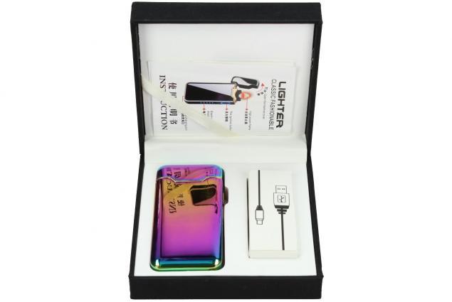 Foto 2 - Plazmový zapalovač duhový s USB 818