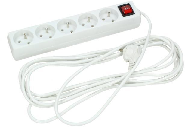 Foto 2 - Prodlužovací kabel s vypínačem 5 zásuvky 5 m bílý