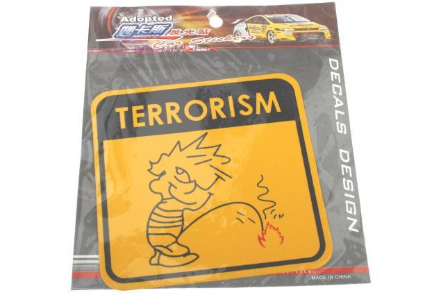 Foto 3 - Samolepka Terrorism žlutá 12 x 12 cm